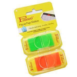 *Indeksi 25x48mm 2 krās.x20 gab.zaļi/oranži