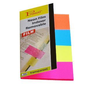Indeksi 20x48mm,  40 lapiņas,  4 krāsas no plastika