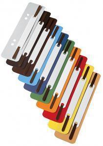 Ieliktņi dokumentu iesiešanai 25 gab.pelēka krāsa šuvēju meh