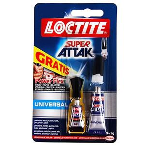 Līme SUPER-ATTAK 3gr.+1gr Power Flex Gel