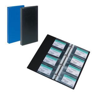 Vizītkaršu bloks 120 vizītkartēm,  ar 4 riņķiem,  zils