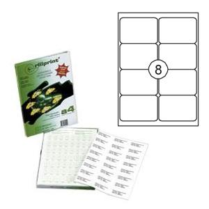 Uzlīmes Rillprint 99.1x67.7mm 100 loksnes A4 formāta