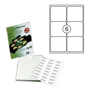 Uzlīmes Rillprint 99.1x93.1mm 100 loksnes A4 formāta