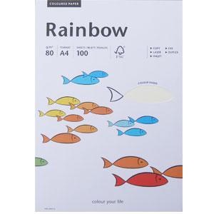 *Krāsains papīrs Rainbow dabiski balta 01 A4 100loksnes,  80g