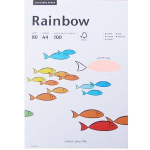 *Krāsains papīrs Rainbows 54 gaiši rozā A4 100loksnes,  80g/m