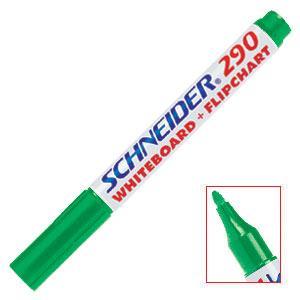 Marķieris tāfelei 290 zaļš,  Schneider