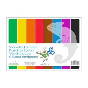 Krāsains kartons A4,  8 krāsas,  vienpusējs,  SMLT