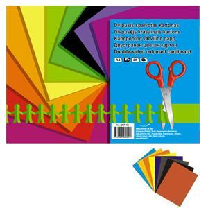 Krāsains kartons A4,  8 krāsas,  divpusējs 200gr