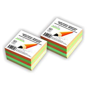 Piezīmju bloks krāsains,  9x9cm,  500lapas,  līmēts,  SMLT