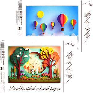 Aplikāciju papīrs A4/8 krāsas,  divpusējs,  SMLT