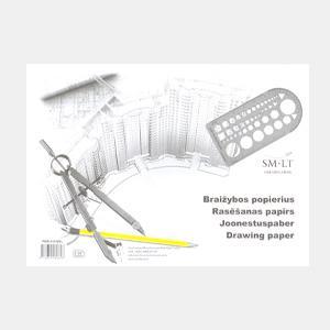 Rasēšanas papīrs,  A4/10 lapas,  SMLT