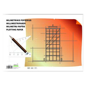 Milimetru papīrs A3,  20 lapas,  SMLT