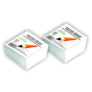 Piezīmju bloks balts,  90x90mm,  500 lapas limēts,  SMLT