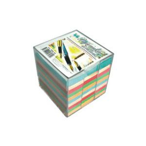 Piezīmju papīrs krāsains,  9x9cm,  750 lapas kastē,  SMILTAINIS