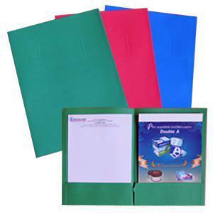 Mape dokumentiem A4 kartona ar iekšējām kabatām,  zaļa,  SMLT