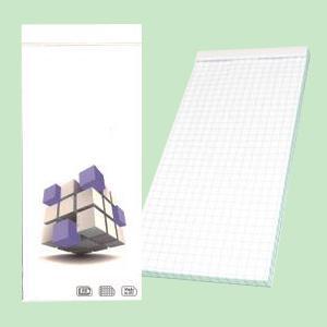 Bloknots 80x180mm,  80 lapas,  rūtiņu,  SMILTAINIS