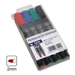 Noturīgo marķieru komplekts STA 4 krāsas
