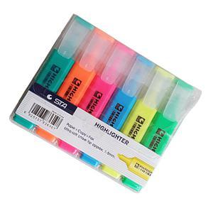 Teksta marķieru komplekts 6 krāsas,  STA