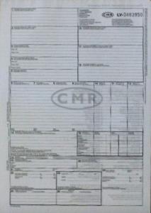 Muitas deklarācijas CMR 6 lapas ar numuriem