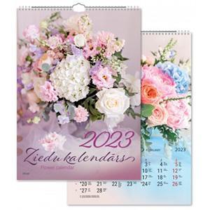 Sienas kalendārs TIMER Ziedu,  2018g.