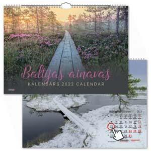 Sienas kalendārs Baltijas ainavas,  2017g.