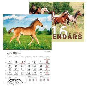 *Sienas kalendārs TIMER Zirgu