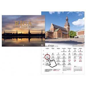 *Sienas kalendārs RĪGA 2020g.,  Timer