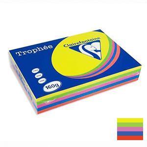 Papīrs TROPHEE asorti/intens.A4/160g/250