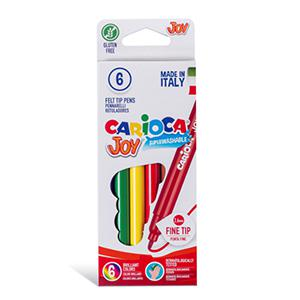 Flomāsteri JOY 6 krāsas,  kartona iepakojums,  Carioca
