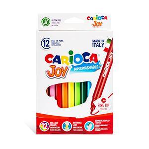 Flomāsteri JOY 12 krāsas,  kartona iepakojums,  Carioca