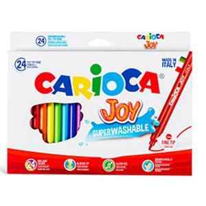 Flomāsteri JOY 24 krāsas,  kartona iepakojums,  Carioca