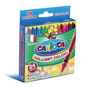 Krītiņi vaska 24 krāsas