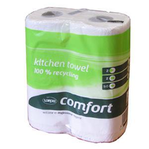 Dvieļi WEPA Comfort,  baltā krāsa,  23cm x 11m,  2slāņi,  2ruļļi