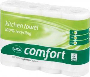 Dvieli WEPA Comfort baltā krāsa 4 rulli, 23cmx11m, 2 slāņi