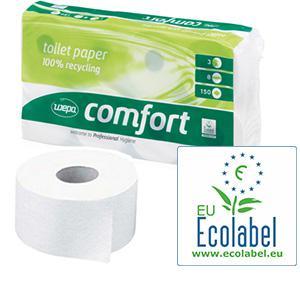 Tualetes papīrs WEPA comfort,  2-kārtas,  27.5m