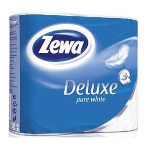 Tualetes papīrs ZEWA Deluxe Pure White 3 kārtu,  4 ruļļi